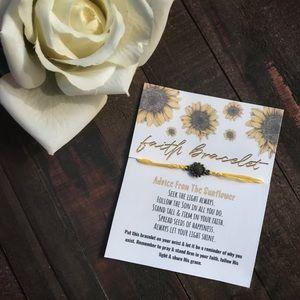 Faith Bracelet • Inspirational Sunflower Bracelet